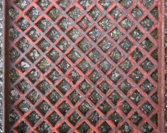 Antique Cast iron Grate Floor Wall  Architectural salvage Nouveau Victorian Gothic Decorative restoration hardware supplies