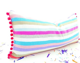 Cinco de Mayo, Bohemian decor,Mexican Pillow covers 14x28, funky Mexico cushion,Tribal Aztec Pillowcase sham multicolor Pillows,Gift for her