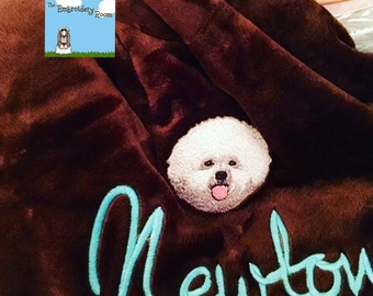 Bichon Blanket-Custom Embroidered-Soft and Cozy