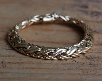 Vintage Tiffany & Co. Classic 14K basket weave bracelet