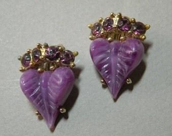 Lilac Leaf Earrings