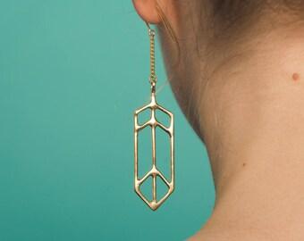 FAUNA Animal Rescue Benefit Earrings - Handmade Dangly Lightweight Earrings in Brass or Sterling Silver