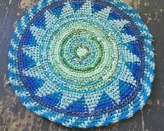 Lush Fair Isle Crochet Rug