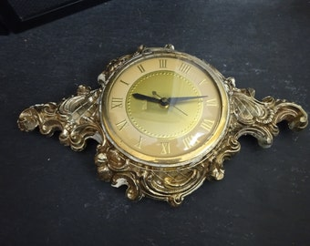 Beautiful Ornate Vintage Metal Clock - For Upcycle Repair Clock Parts or Decoration - Rococo Design