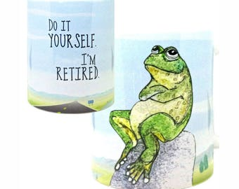 Retired Frog Mug by Pithitude