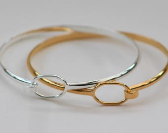 Silver or Gold Plated Bracelet Bangle Blanks - hook and loop fastening