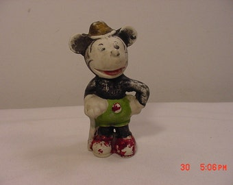 Vintage 1930's Era Mickey Mouse Bisque Figurine With Long Pointy Nose   16 - 700