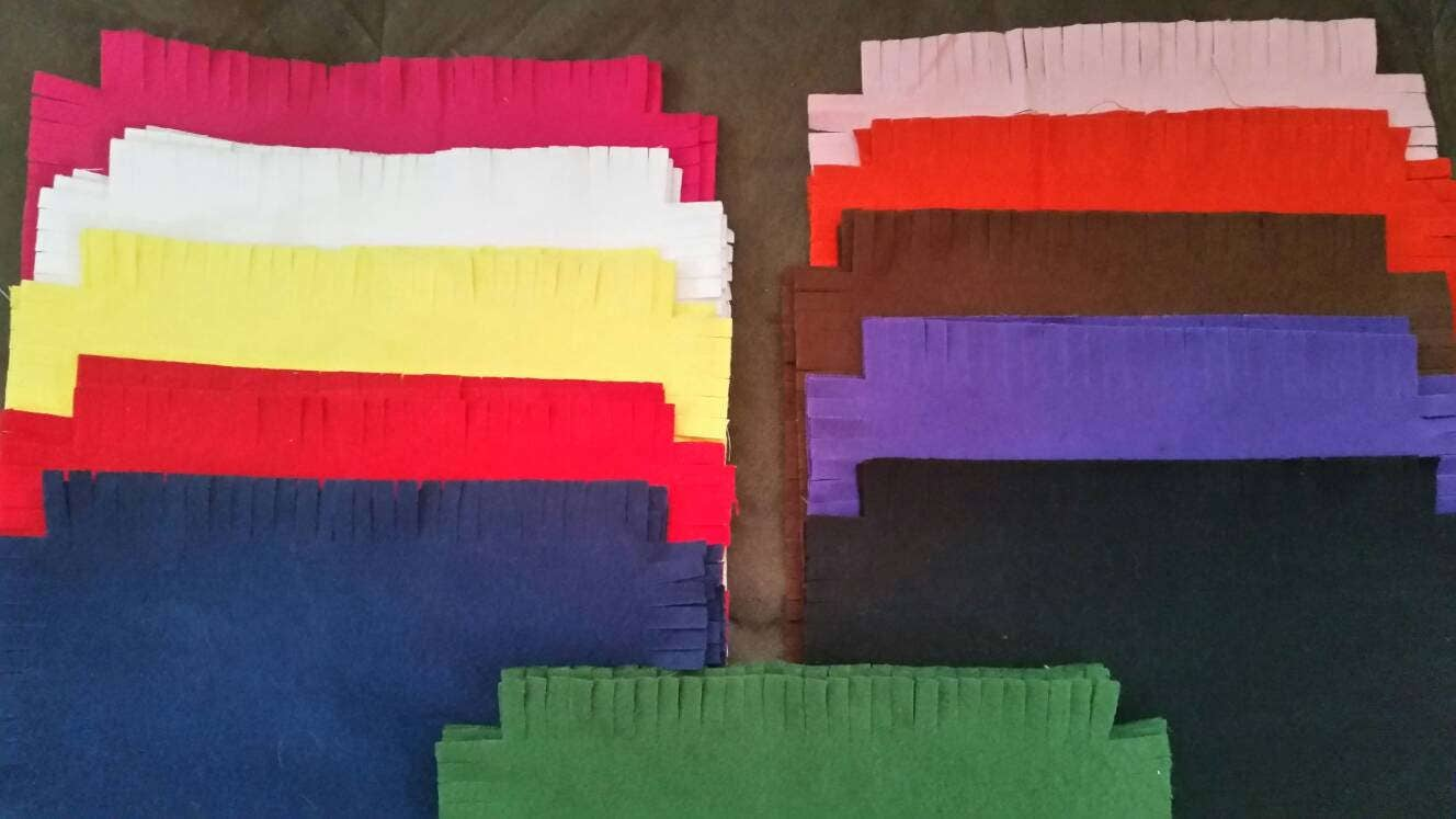Pre Fringed Die Cut Flannel Fabric Squares For Rag Quilt