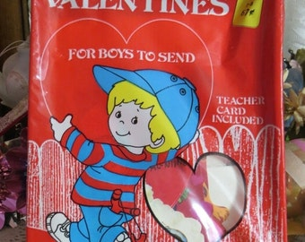 ON SALE Old Stock-Unused-Valentine Day Cards from the 1970's-Original Package