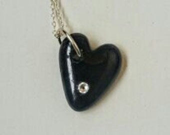 Recycled bottle love with Swarovski crystal
