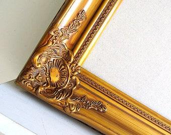 READY to SHIP Linen Pin Board Large Fabric Board Seating Card Holder Bulletin Board Cork Board Gold Framed Gift for Mom Wedding Decor Sign