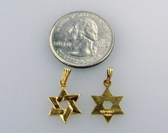NOS Magen David - Star of David pendants GF