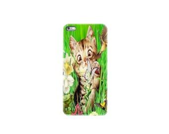 iPhone 6 case iphone 6S case iphone 6 plus case iphone 7 case iphone 7 plus case cover cat kitten butterfly bird flower garden kitty pet fun