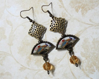 Oriental Fan Earrings (3569)