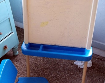 Vintage Child Sized FIsher Price Fisher-Price Easel and Desk Arts and Crafts