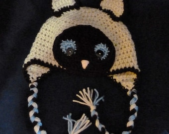 Siamese Cat Hat 6-12 months - Ready to ship
