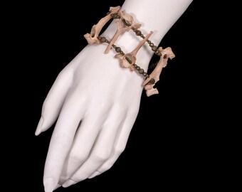 Tea-Stained Vertebrae Bracelet