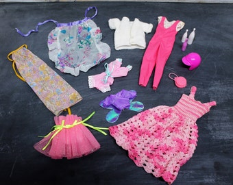 Lot of Vintage Barbie Doll Clothes and Accessories