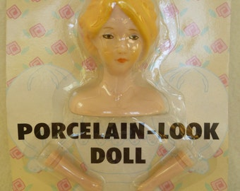 "Packaged Wang's International ""Just For Keeps"" Porcelain-Look Doll Head with Hands"