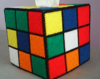 Rubik's Cube Tissue Box Cover