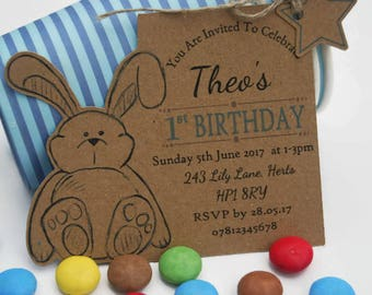 x10 Boys First Birthday Party Invites Invitations tags Personalised 1st 2nd 3rd