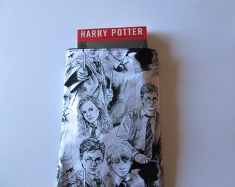Harry Potter fabric paper back book envelope, book protector, Ipad protector, book sleeve