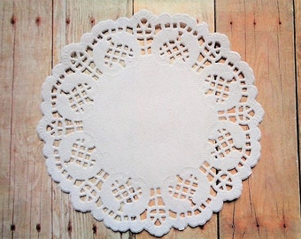 """Paper Doilies 4.5"""" White Party Favor Doily Gift Wrap Packaging Embellishment Scrapbooking Kids' Crafts DIY Pack of 100"""