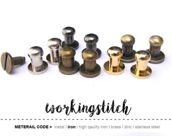 BEST Price! 20sets 5mm Ball Head, mini Button Studs Stand Leather Screwback for DIY Craft / GRADE B