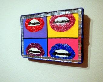 Lips ~ Pop Art ~ Mounted