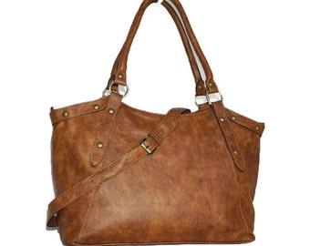 RUSTIC Leather Bag, Leather Bag, Handbag Tote,  Leather Shoulder Bag, Leather Cross Body Bag, Large Leather Handbag, Leather Shoppper, Elsa!