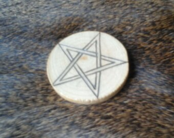 Small Wooden Altar Pentacle