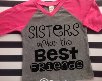 Big Sister Shirt Sisters Best Friends Shirt Pregnancy Announcement Shirt Surprise Big Sister Shirt Raglan Big Sister Shirt