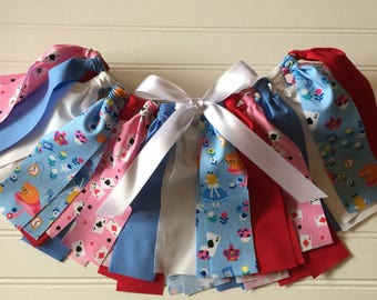 Alice in Wonderland Birthday - Alice Costume Skirt - Birthday Outfit - Mad Tea Party Costume - Little Girl Birthday Outfit