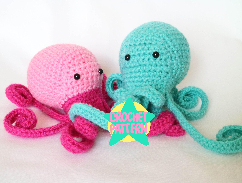 Crochet Pattern Amigurumi Octopus Kawaii Cute Cephalopod ...