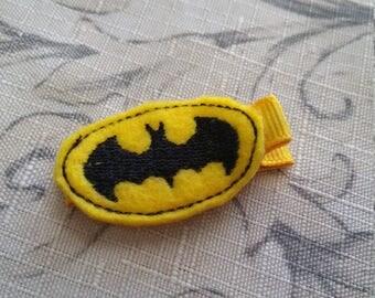 Yellow Batman Toddler Hair Clip Non Slip Hair Clip