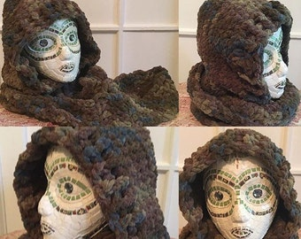 Hand crafted crocheted Scoodie