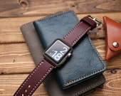 Apple Watch Band in Baseball Glove BURGUNDY Leather