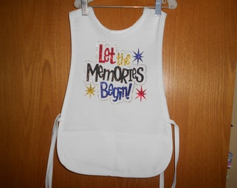 Let the Memories Begin  Child's Smock