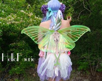 Medium Steel Luna Moth Fairy Wings Butterfly Wings