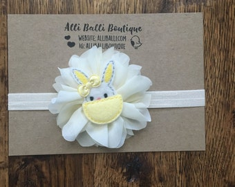 Easter Headband, Baby Headband, First Easter, Bunny Headband, Newborn Photo Prop, Spring Photography Prop