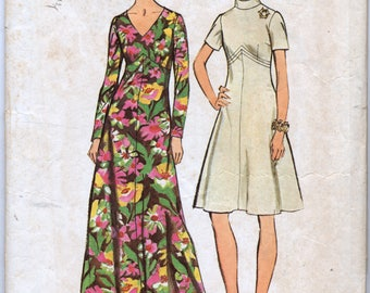 Misses' and Women's Dress in Two Lengths Sewing Pattern - Simplicity 5850 - Size 12, Bust 34