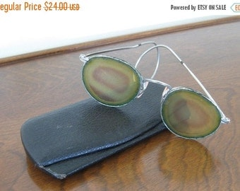 ON SALE Antique Reading Glasses Spectacles Wire Frames with Case Victorian Collectible Vintage Fashion Collectible
