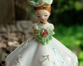 ANTIQUE Beautiful Josef Original Signed June Flower Girl Birthday Figurine Circa 1950s