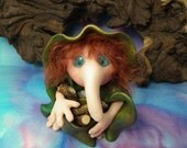 SchnozKin Gnome 'Aelredd' * long-nosed goblin wood collector * OOAK SCULPT by Artist Ann Galvin