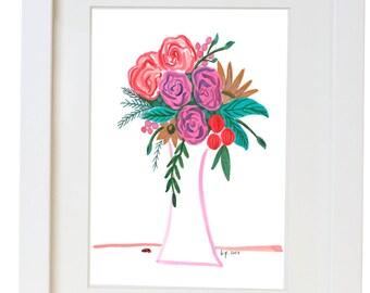 Floral Watercolor Print/ Poster
