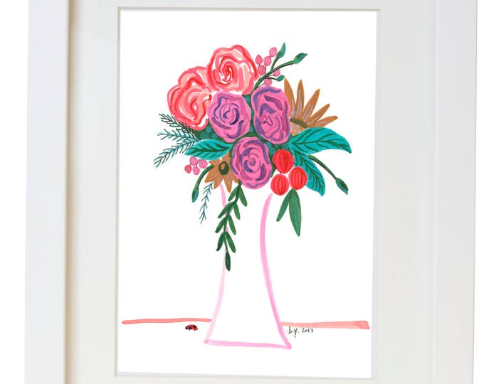 Floral Watercolor Print/ Poster
