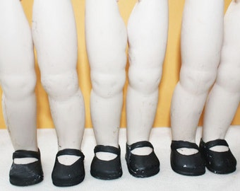Vintage Bisque Doll Legs in Mary Jane Shoes, ONE PAIR  -  B