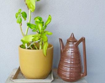 Freeman McFarlin Glazed Modernist Pitcher Coffee Pot Vase Barware Mid Century Modern California Pottery CARAFE CA Calif Ceramics
