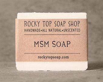 MSM Soap -  All Natural Soap, Handmade Soap, Cold Process Soap, Vegan Soap, MSM Soap