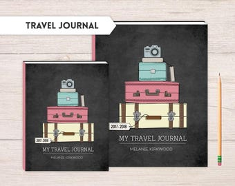 Travel Journal, traveling journal, note journal, lined travel journal, Adventure journal, Travel notebook, Travel Suitcases